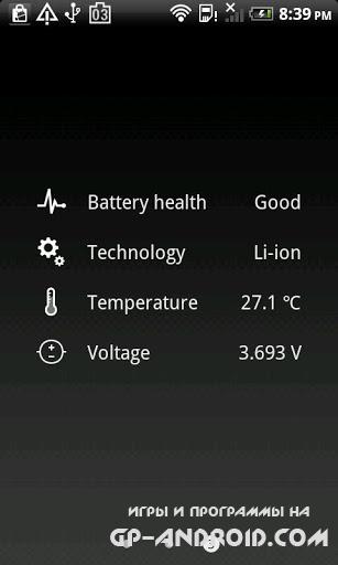 Виджет Батарея HD